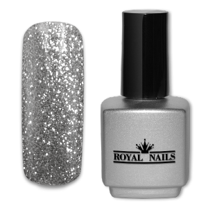 Royal Nails UV Gel Lack: UV-Gel Lack Royal Nails Light Silver Glitter 11 ml.