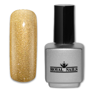 Royal Nails UV Gel Polish: UV gel polish Golden Grass Glitter 11 ml.