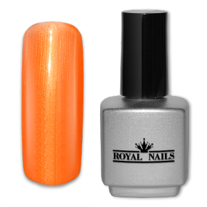 Royal Nails UV Gel Lack: Permanent Nagellack Coral Orange Glimmer 11 ml.