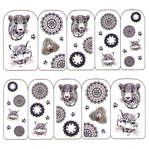 Royal Nails Nail sticker: Nail Art Tattoo per unghie Nr. 2333
