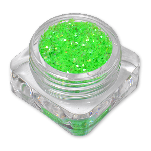 Royal Nails Glitter and Tinsel: Nail Art Hologram Glitter Nebula Green Nebula Green