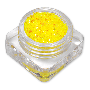 Royal Nails Glitter e flitter: Nail Art Ologramma Paillettes per unghie Light Mustard