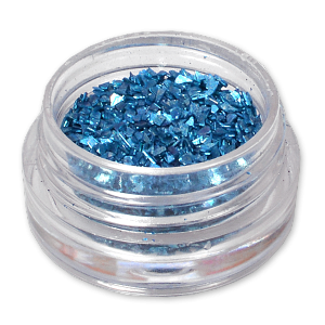 Royal Nails Glitter and Tinsel: Nail Art metallic Glitter Deep Sky Blue
