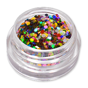 Royal Nails Glitter und Flitter: Nail Art Hologramm Glitter Hexagon