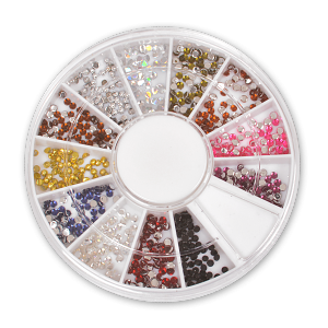Royal Nails Rhinestones: Rhinestone display pastel