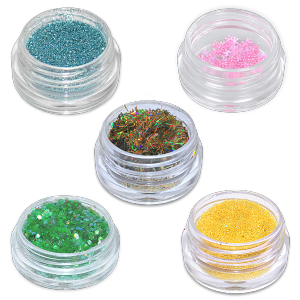 Royal Nails Glitter and Tinsel: 5 Set decoration MIX