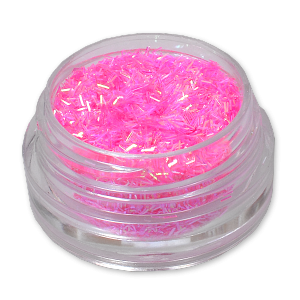 Royal Nails Glitter and Tinsel: Nail Art Hologram Tinsel Neon Magenta