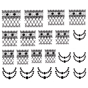 Royal Nails Stickers pour ongles: Nail Art Sticker pour ongles Nr. 3636