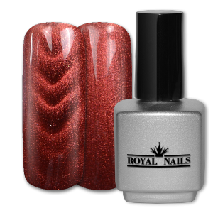 Royal Nails Gel de couleur: Gel de Couleur magnétique Bordeaux Red Glitter 11 ml.
