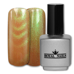 Royal Nails Gel de couleur: Gel de Couleur magnétique Gold Green Glitter 11 ml.