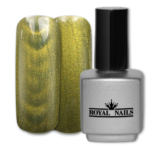 Royal Nails Color Gel: Gel di colore magnetico Avocado Green Glitter 11 ml.