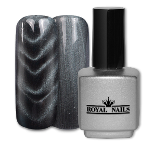Royal Nails Colorgel: Magnet Color Gel Silver Black Glitter 11 ml.