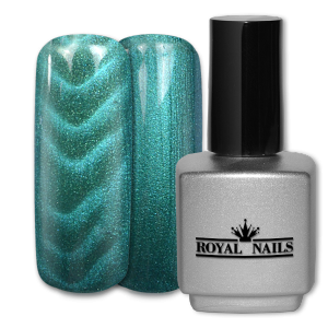 Royal Nails Color Gel: Magnetic Color Gel Light Turcuoise Glitter 11 ml.