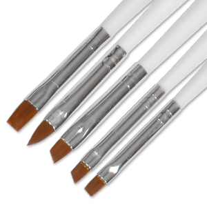 Royal Nails Gel Brush: Set of 5 Zebra Decoration Brushes