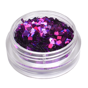 Royal Nails Glitter and Tinsel: Nail Art Hologram Glitter square Fuchsia Orchid
