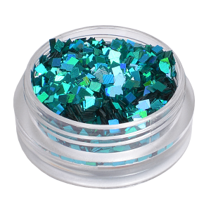 Royal Nails Glitter und Flitter: Nail Art Hologramm Glitter quadrat Tiffany Green