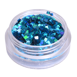 Royal Nails Glitter and Tinsel: Nail Art Hologram Glitter square Electric Blue