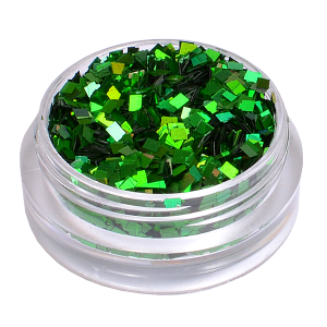 Royal Nails Glitter und Flitter: Nail Art Hologramm Glitter quadrat Fun Green