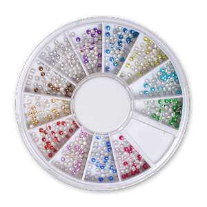 Royal Nails Rhinestones: Nail Art Deco round metallic small