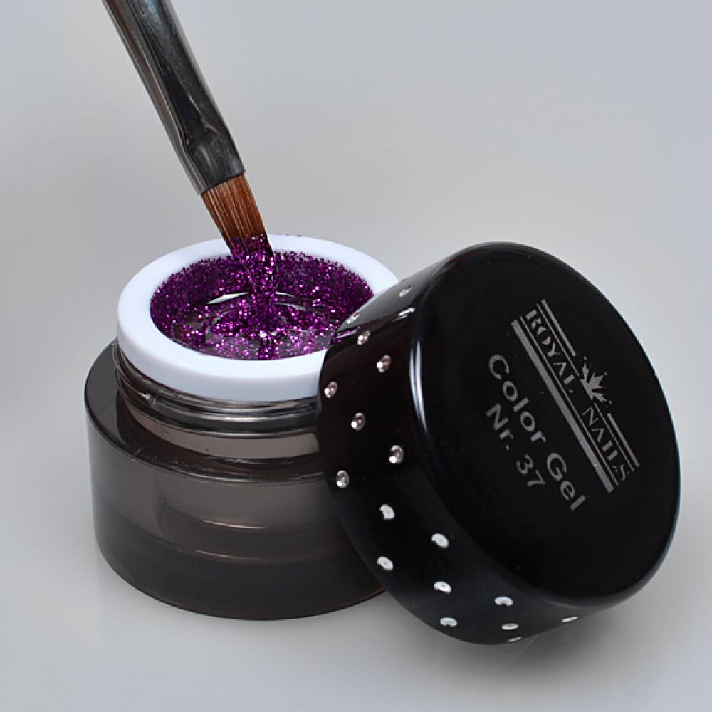 Nail art color violet -  Royal Nails Color Gel Nail Art Color Gel Nr 37 Violet Eggplant