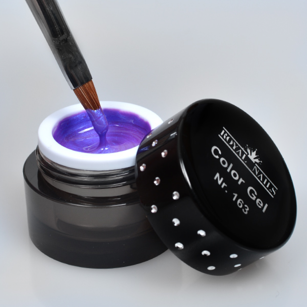 gel de couleur pour ongles n 163 medium purple sparkling gel uv boutique en ligne. Black Bedroom Furniture Sets. Home Design Ideas