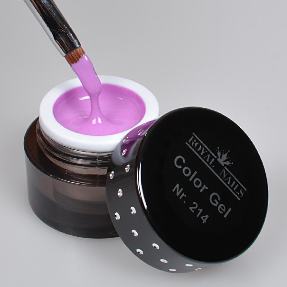Nail art color violet -  Royal Nails Color Gel Nail Art Color Gel Nr 214 Exotic Violet
