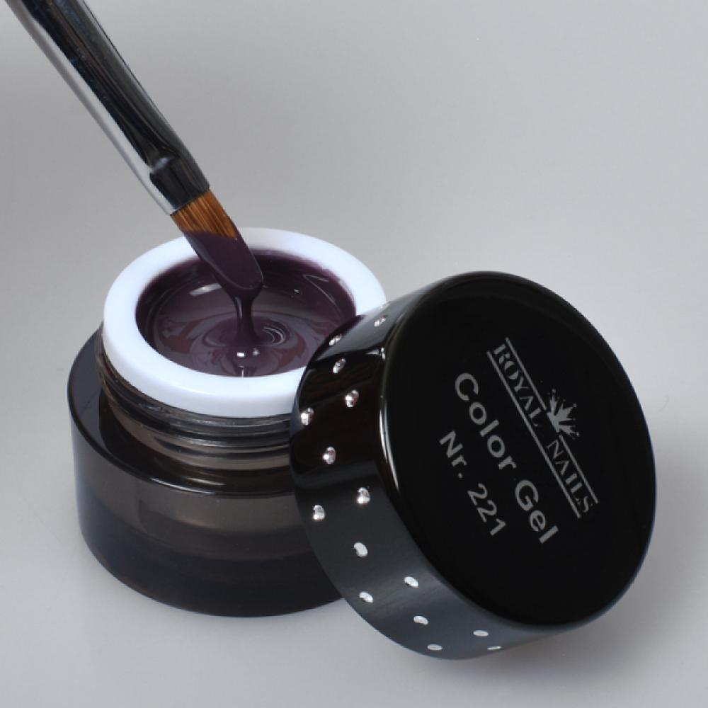 gel de couleur pour ongles n 221 dark orchid gel uv boutique en ligne. Black Bedroom Furniture Sets. Home Design Ideas