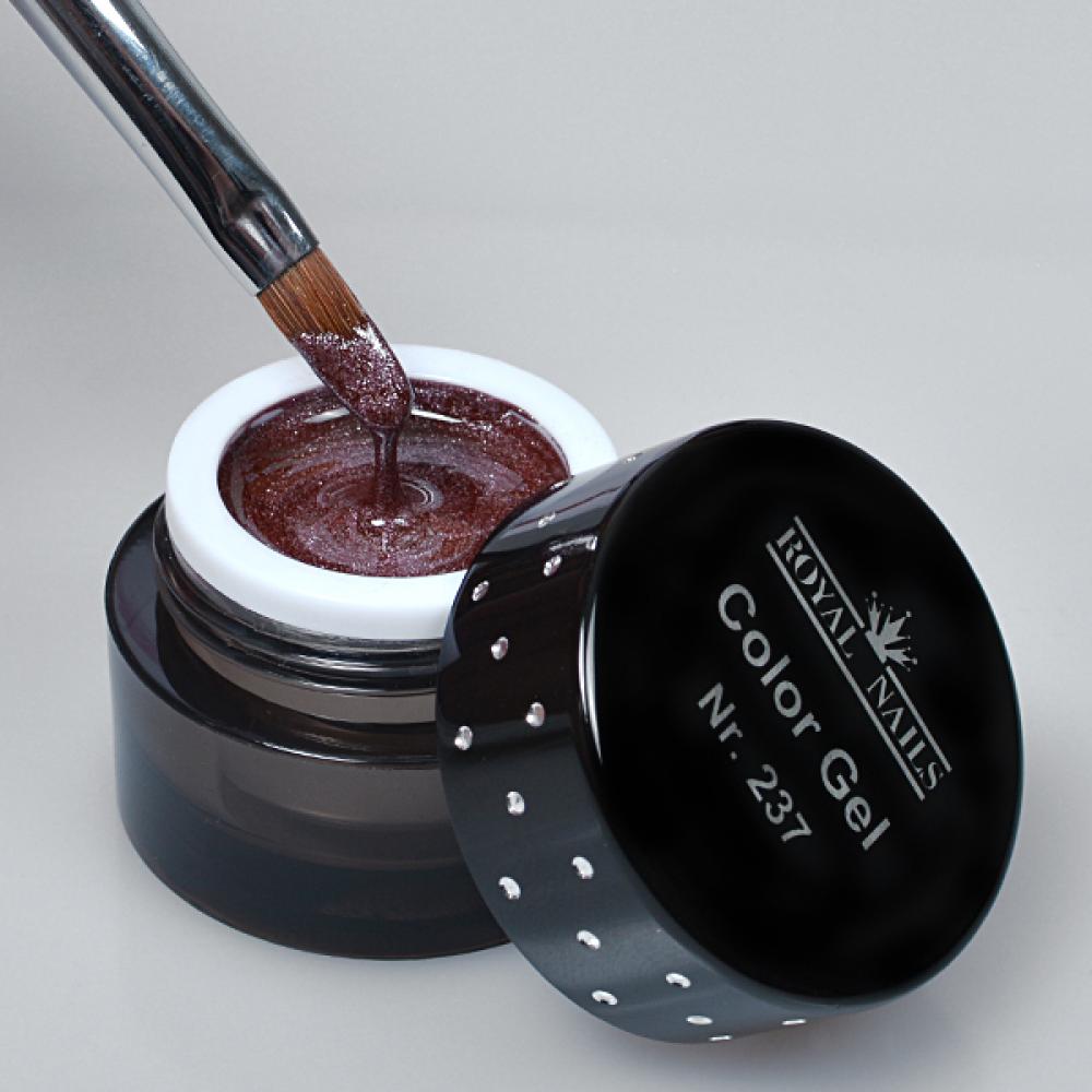 gel de couleur pour ongles n 237 burned brown glitter gel uv boutique en ligne. Black Bedroom Furniture Sets. Home Design Ideas
