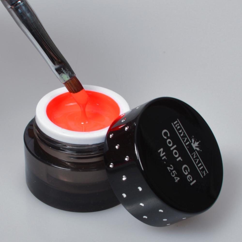gel de couleur pour ongles n 254 glowing mandarin gel uv boutique en ligne. Black Bedroom Furniture Sets. Home Design Ideas